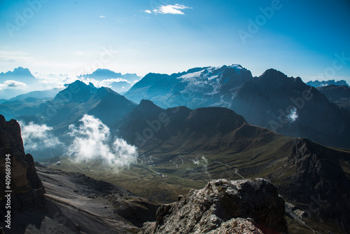 Fotografía Dolomiti, vista dalla cima del Passo Pordoi