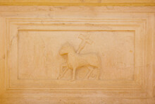 Bominaco - (AQ) Abruzzo - Church Of Santa Maria Assunta - High Relief Of The Cruciferous Lamb.