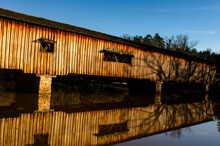 Watsons Mill Bridge And Reflection.