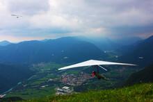 Hang Gliding Taken In Julian Alps, Slovenia