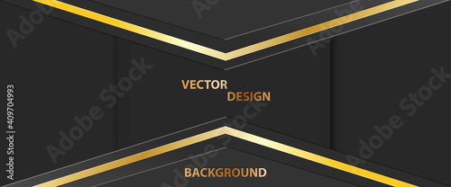 Abstract golden banner, Dark background for text, message, banner, business card Fototapet