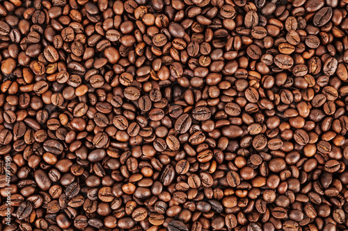 Canvas Print Roasted coffee beans background