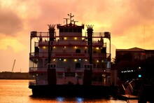 Sunrise Over The River Savannah, Georgia