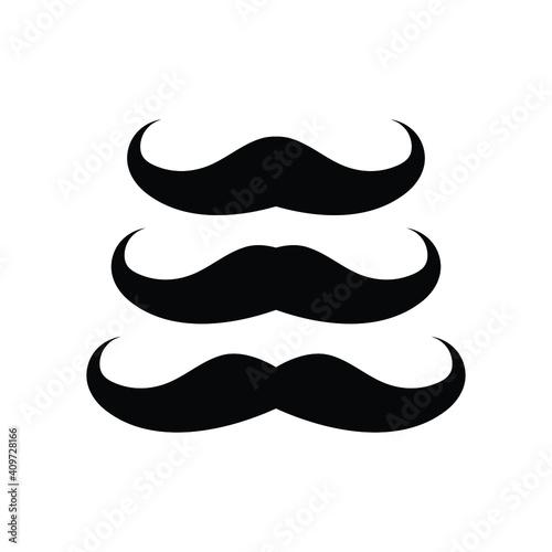 Obraz Vector set of hipster mustache - fototapety do salonu