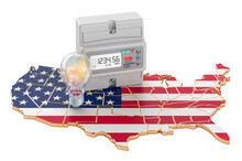 Electric Energy Consumption In The United States, 3D Rendering