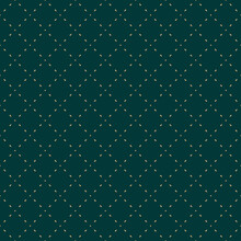 Golden Minimalist Vector Seamless Pattern. Subtle Minimal Geometric Texture. Simple Dark Green And Gold Abstract Background With Small Shapes, Dots, Lines, Grid. Luxury Repeated Decorative Design