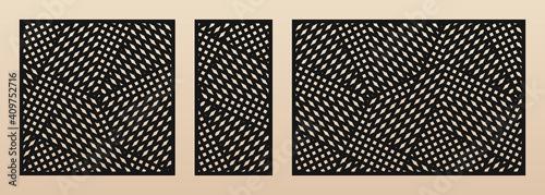 Laser cut pattern set Fotobehang