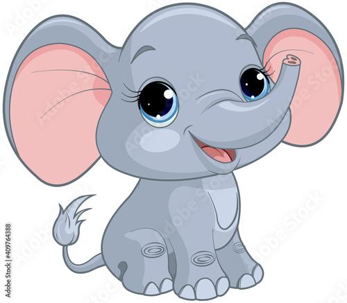 Baby Elephant #409764388