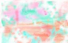 ピンクと水色の淡い水彩背景