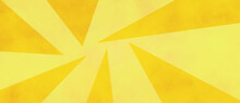 Bright Yellow Geometric Background With Abstract Gold Triangles And Lemon Yellow Color With Texture