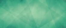 Mint Green Background With Geometric Design Pattern And Soft Texture, Spring Or Easter Color Background With Angles And Triangle Shapes And Polygon Style Illustration