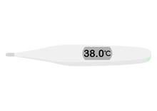 38.0℃を示す体温計