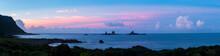 The Warship Rock Of Lanyu At Dusk, Taiwan