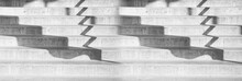 Cement Stair Case And Shadow Architecture Banner Background