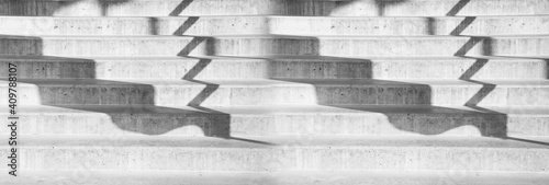 Fotografia cement stair case and shadow architecture banner background