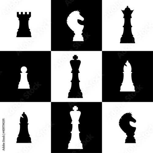 Obraz Chess figures design - fototapety do salonu