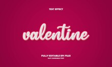 Editable Text Effect Valentine Title Style