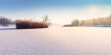 Frozen Lake By Sunshine