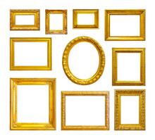 Set Of Golden Vintage Frame