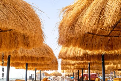Photographie hut on the beach