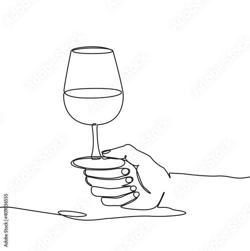 ligne-tenir un verre © lil_22