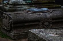 Alter Friedhof Mit Gräbern Tot Und Kreuzen