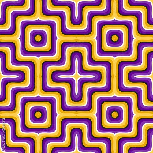 Fotografija Purple golden optical illusion seamless pattern