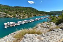 Port In Lake Of Esparron-de-Verdon, A Commune In The Alpes-de-Haute-Provence Department In Southeastern France.