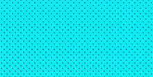 Comic Turquoise Polka Dot Vector Background, Cartoon Pattern. Abstract Illustration