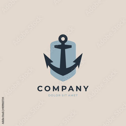 Anchor logo icon design template Fotobehang