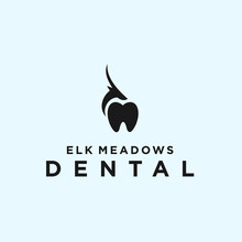 Abstract Dental Logo. Deer Icon