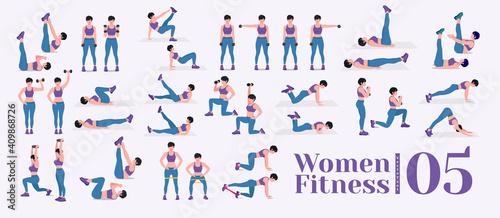 Women Workout Set Fototapet