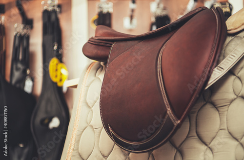 Horse Saddle Equestrian Retail Store Product Fotobehang