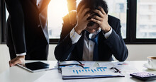 Bankruptcy And Loss Concept, Businessman, Person Went Bankrupt, Organization Completely Lacking In A Particular Quality Or Lose Business Value