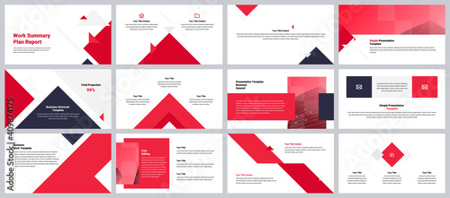 Minimalist corporate presentation template
