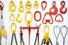 Hooks, Blocks, Metal Cables And Chains In Store