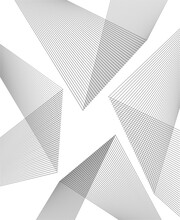 Design Elements. Curved Sharp Corners Wave Many Lines. Abstract Vertical Broken Stripes On White Background Isolated. Creative Line Art. Vector Illustration EPS 10. Black Line Created Using Blend Tool