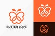 Butterfly And Love Logo Design, Minimalist Elegant Logos Designs Vector Illustration Template