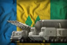 Saint Vincent And The Grenadines Rocket Troops Concept On The National Flag Background. 3d Illustration