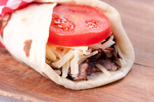 Beef Steak Wrap And Tomato