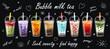 Bubble milk tea Special Promotions design, Boba milk tea, Pearl milk tea. Design template. illustration with slogan