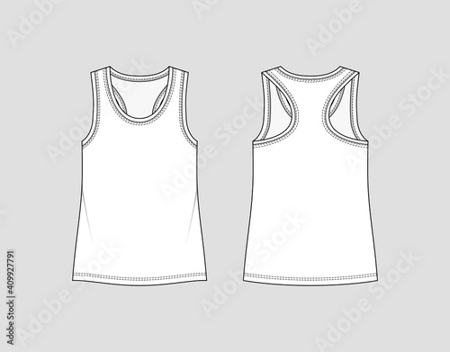 Canvas Racer back tank top
