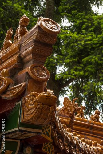 Fototapeta Roofline decorations Asian temple