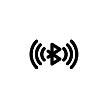 Bluetooth Connection Icon In Line Style. Connection And Network Icon