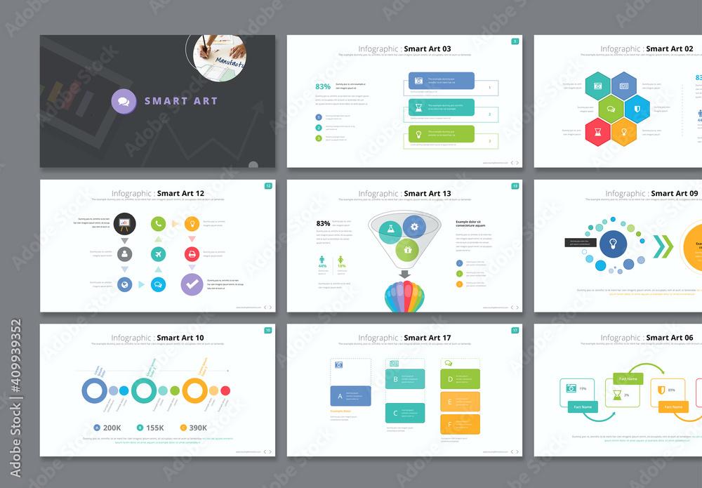 Fototapeta Infographic Smart Art Presentation Layout