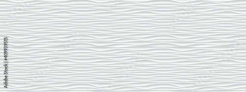 Fototapeta Wall texture wave pattern, white paper background, vector modern seamless abstra