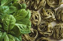 Dry Green Pasta, Spinach Tagliatelle