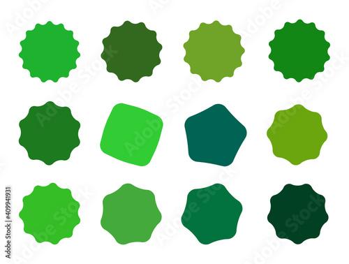 Obraz na plátně Set of vector starburst, sunburst badges