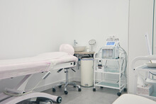 Contemporary Dermabrasion Machine For Skin Care Treatment Placed In Bright Room In Beauty Clinic