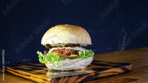 Fototapeta Crispy Chiken Burger. obraz